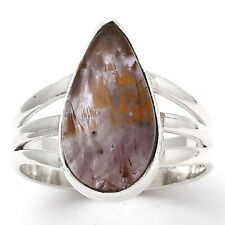Cacoxenite Super Seven 7 Mineral 925 Sterling Silver Ring s.7 Jewelry 3488
