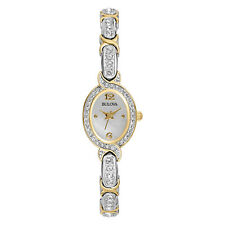 Bulova Women's 98L005 Silver and Gold Tone Crystal-Accented 17mm Watch