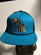 My Little Pony Hat Blue/Black Meshback Baseball Snap Back One Size Fits Most. A9