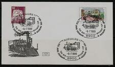 """BRD Brief """"100 Jahre Eisenbahn in Augsburg"""" 8900 Augsburg 1 (1) -8.-7.1989"""