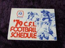 1979 CFL League Season Football Schedule - Canadian Football League