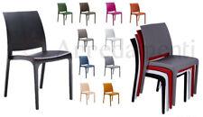 Sedia in Polipropilene Interno Esterno Volga Bar Ristorante Giardino Sedie Color