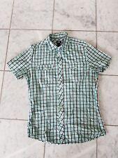 H&M kurzarm Herren Hemd - Größe: S - Farbe: Grün kariert - Baumwolle