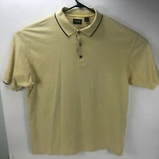 Ping Men's Short Sleeve Cotton Golf Polo Shirt Cream With Logo Size L