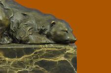 Bronze Sculpture Unique Polar Bear Eskimo Home Cabin Decoration Decor Statue