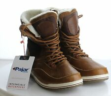 V68 Men's Size 10 Pajar Brown Leather Lace-Up Double Zip Winter Boots