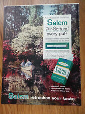 1960 Salem Cigarette Ad  Couple on a Boat ride in the colorful Spring