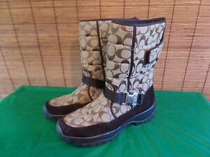 COACH Sharron signature  boots vibram size 11 MED.