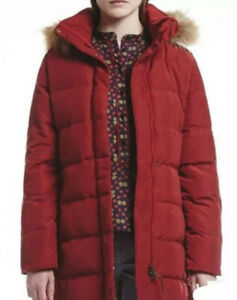 Aigle Downshine Ladies Down Filled Coat In Bordeaux Size 14/42 - Immaculate