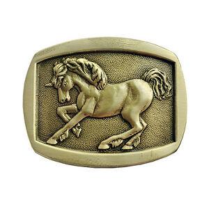 Indiana Metal Craft Unicorn Belt Buckle Made in USA