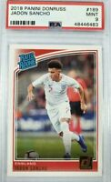 2018 Panini Donruss Soccer Jadon Sancho (England) RATED ROOKIE Base #189 PSA 9
