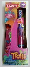 """Trolls"" Powered Toothbrush Toothpaste Set. Colgate Dreamworks Purple NEW sealed"