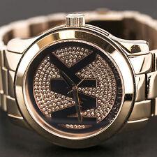 MICHAEL KORS MK5661 RUNWAY MK Logo Crystal Glitz Dial Rose Gold Tone Women Watch