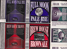 3  Sticker Beer Labels Real Ale Brewery Blanco TX Full Moon Brown Ale Rio Blanco