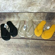 Old Navy Womens Size 9.5 Black Yellow Gold Flip Flops Lot of 3 NEW