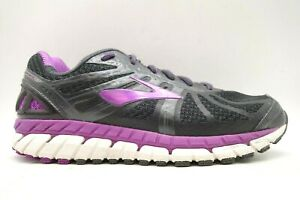 Brooks Ariel 16 Charcoal Purple Lace Up Athletic Running Shoes Women's 9.5 EE