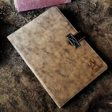 Asquino iPad Air 2 tablet, funda, estuche, bolsa de cuero sintético Cubierta Funda marrón