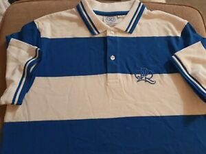 QPR Queens Park Rangers Striped  Blue & White Football Top- Size Medium New