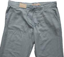 New Womens Blue Linen Parallel NEXT Trousers Size 18 Long Leg 33 LABEL FAULT