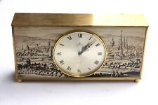 Vintage German Junghans Electronic Ato-Mat Clock Old Berlin w Lythography WORKS