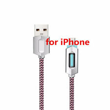 1M Real Over 2A Fast Charging LED USB Charger Data Cable For iPhone 8 7 6 Plus 5