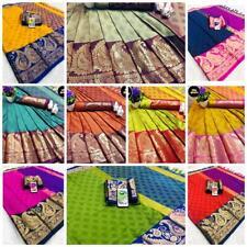 Sari Rich Cotton Silk Festival Collection Wedding New Designer Traditional Saree