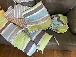 Cocalo Baby Bedding - Neutral Stripe 7-pc NURSERY BEDDING SET