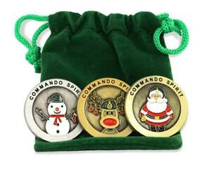 Royal Marines Christmas Spoof Coin Game Memorabilia Full Bundle Set with Pouch