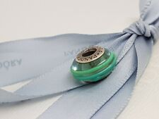 CLEARANCE Authentic Pandora Teal Ribbon Murano Glass Charm
