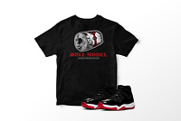 Roll Model Graphic T-Shirt to Match Air Jordan 11 Bred Retro All Sizes