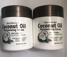 2X Spa Naturals COCONUT OIL MOISTURIZING CREAM Vitamin E for Dry Skin 6oz