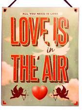 Cupid Valentine romantic VINTAGE ENAMEL METAL TIN SIGN WALL PLAQUE