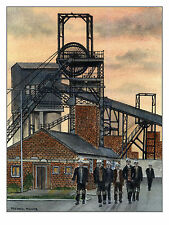 End of Shift Prince of Wales Colliery - Ltd Ed Print - Pit Pics - Coal Mining