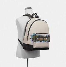 NEW COACH x KEITH HARING GRAFFITI WEST BACKPACK W/GRAFFITI F67410 $650