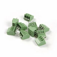 Uctop 30pcs 3 Pole 2.54mm Pitch PCB Mount Screw Terminal Block Connector