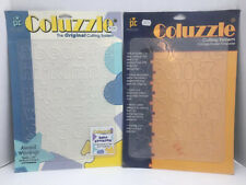 Provo Craft Coluzzle Stencil Letter Number and Punctuation 2 piece lot