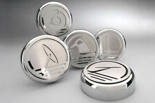 273040 - 2005-2009 Mustang Fluid Cap Cover 5Pc Set brushed