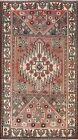 Vintage Geometric Hamedan Traditional Oriental Area Rug Handmade Wool Carpet 4x7