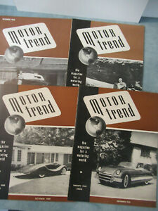 Motor Trend Magazine #1-4 1949 First 4 Issues!