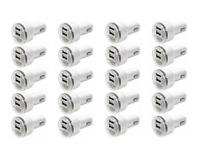 20x USB Dual Port Car Charger Adapter 2.1A For iPhone LG HTC Samsung All Phone