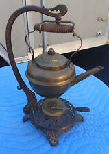 Bradley and Hubbard Brass Teapot/Stand;Complete 5 pc; c1880s-90s; Good Condition