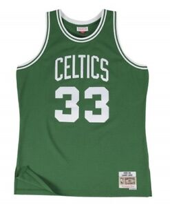 Larry Bird #33 Boston Celtics Mitchell & Ness NBA Mesh Throwback Jersey Green