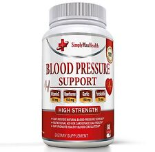 Premium Blood Pressure Support Formula - High Blood Pressure Supplement w/ Olive