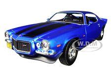 Box Dented 1971 CHEVROLET CAMARO BLUE 1/18 DIECAST CAR BY MAISTO 31131
