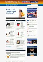 KETTLEBELL TRAINING TIPS BLOG WITH AFFILIATE WEBSITE AND NEW DOMAIN + HOSTING