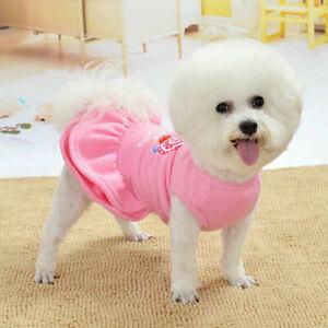 Dog Skirt Pet Dress Cotton Small Dog Dress Puppy Princess Clothes Chihuahua Cat