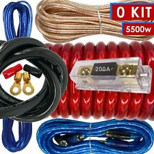 Xb Complete 0 Gauge Amp Kit Amplifier Install Wiring 0 Ga Wire Cable 5500W Red