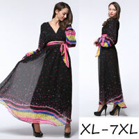 Women Chiffon Long Dress Evening Party Cocktail Dresses Muslim Islamic Maxi Gown