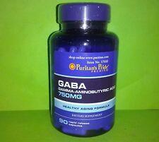 GABA 750 mg ( acido gama aminobutirico ) 90 capsulas PURITAN´S PRIDE