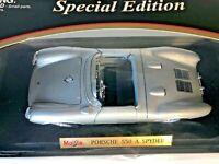 PORSCHE 550A SPYDER MODEL MAISTO 1/18 : SCALE special edition man cave garage 55